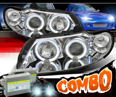 HID Xenon + Sonar® LED Halo Projector Headlights - 04-06 Pontiac GTO