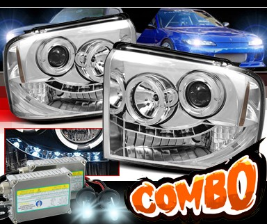 HID Xenon + Sonar® LED Halo Projector Headlights - 05-07 Ford F450 F-450 Super Duty