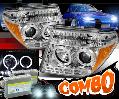 HID Xenon + Sonar® LED Halo Projector Headlights - 05-08 Nissan Frontier