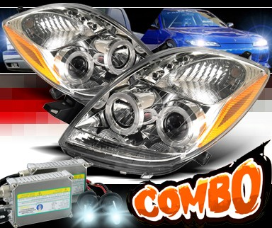 HID Xenon + Sonar® LED Halo Projector Headlights - 06-08 Toyota Yaris 3dr.