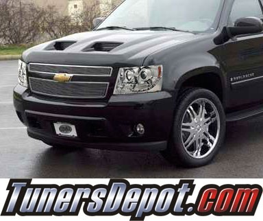 HID Xenon + Sonar® LED Halo Projector Headlights - 07-13 Chevy Avalanche