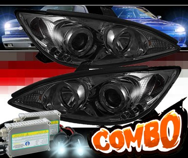 HID Xenon + Sonar® LED Halo Projector Headlights (Smoke) - 02-06 Toyota Camry