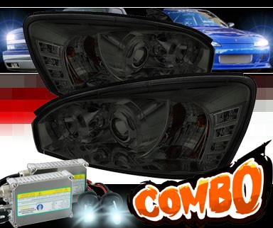 HID Xenon + Sonar® LED Halo Projector Headlights (Smoke) - 04-07 Chevy Malibu