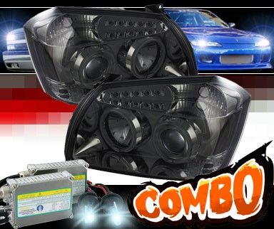 HID Xenon + Sonar® LED Halo Projector Headlights (Smoke) - 05-07 Dodge Magnum