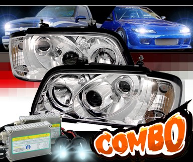 HID Xenon + Sonar® Projector Headlights - 94-00 Mercedes-Benz C230 W202 without Stock HID