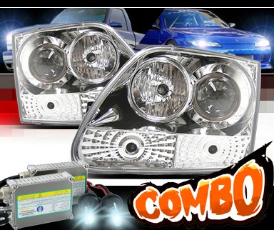 HID Xenon + Sonar® Projector Headlights (Chrome) - 97-02 Ford Expedition