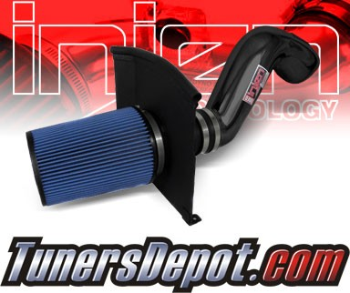 Injen® Power-Flow Cold Air Intake (Black Powdercoat) - 09-13 GMC Sierra 4.8L V8 (w/ Heat Shield)