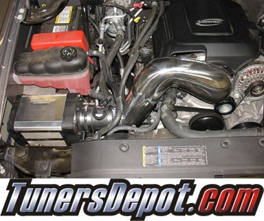 Injen® Power-Flow Cold Air Intake (Polish) - 07-08 GMC Sierra 4.8L V8 (w/ Power-Box)