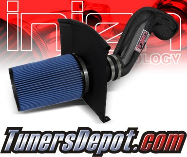Injen® Power-Flow Cold Air Intake (Wrinkle Black) - 02-06 Cadillac Escalade 5.3L V8 (w/ Heat Shield)