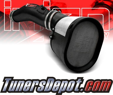 Injen® Power-Flow Cold Air Intake (Wrinkle Black) - 03-05 Ford Excursion Power-Stroke 6.0L V8 (w/ MAF Sensor)