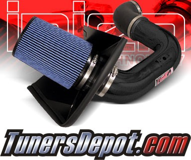 Injen® Power-Flow Cold Air Intake (Wrinkle Black) - 03-07 Dodge Ram Pickup Cummins 5.9L L6 (w/ Heat Shield)