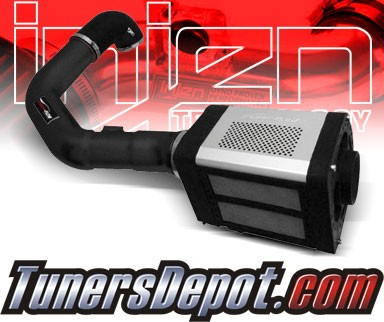 Injen® Power-Flow Cold Air Intake (Wrinkle Black) - 04-08 Ford F-150 F150 5.4L V8 (w/ Power-Box)