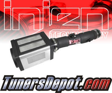 Injen® Power-Flow Cold Air Intake (Wrinkle Black) - 05-11 Toyota Tacoma 4.0L V6 (w/ Power-Box)