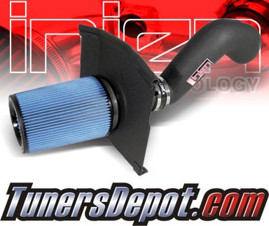 Injen® Power-Flow Cold Air Intake (Wrinkle Black) - 07-08 Chevy Silverado 5.3L V8 (w/ Heat Shield)