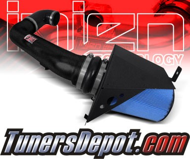 Injen® Power-Flow Cold Air Intake (Wrinkle Black) - 09-10 Ford F-150 F150 5.4L V8 (w/ Air-Box)