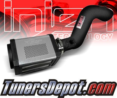 Injen® Power-Flow Cold Air Intake (Wrinkle Black) - 09-13 Cadillac Escalade 6.2L V8 (w/ Power-Box)