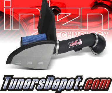 Injen® Power-Flow Cold Air Intake (Wrinkle Black) - 10-11 Chevy Camaro 3.6L V6 (w/ Heat Shield)