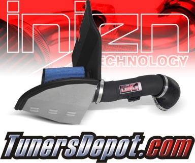 Injen® Power-Flow Cold Air Intake (Wrinkle Black) - 2012 Chevy Camaro 3.6L V6 (w/ Heat Shield)