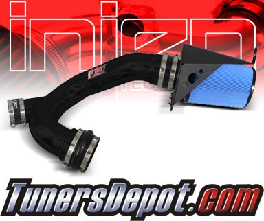 Injen® Power-Flow Cold Air Intake (Wrinkle Black) - 2012 Ford F-150 F150 3.5L V6 (w/ Air-Box)