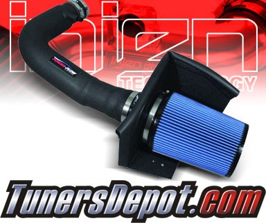 Injen® Power-Flow Cold Air Intake (Wrinkle Black) - 97-04 Ford Expedition 4.6L/5.4L V8 (w/ Heat Shield)