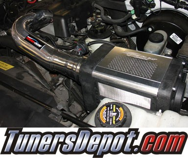 Injen® Power-Flow Cold Air Intake (Wrinkle Black) - 97-04 Ford Expedition 4.6L/5.4L V8 (w/ Power-Box)