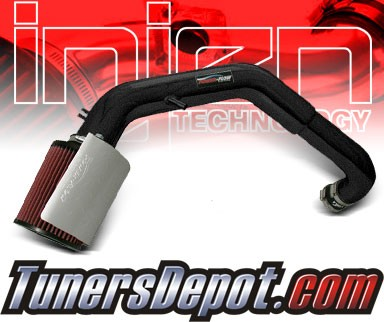 Injen® Power-Flow Cold Air Intake (Wrinkle Black) - 97-06 Jeep Wrangler 4.0L L6 (w/ Heat Shield)