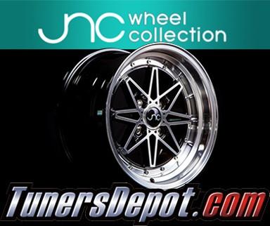 15 JNC002 White Machined Lip Rim JNC Wheels 4x100-15x8 inch