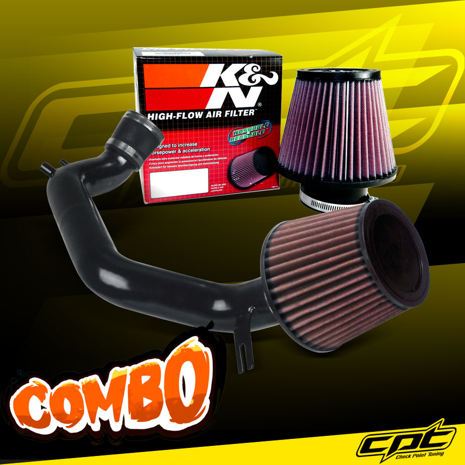 K&N® Air Filter + CPT® Cold Air Intake System (Black) - 03-06 Honda Accord 2.4L 4cyl (Exc. MAF Equipped)