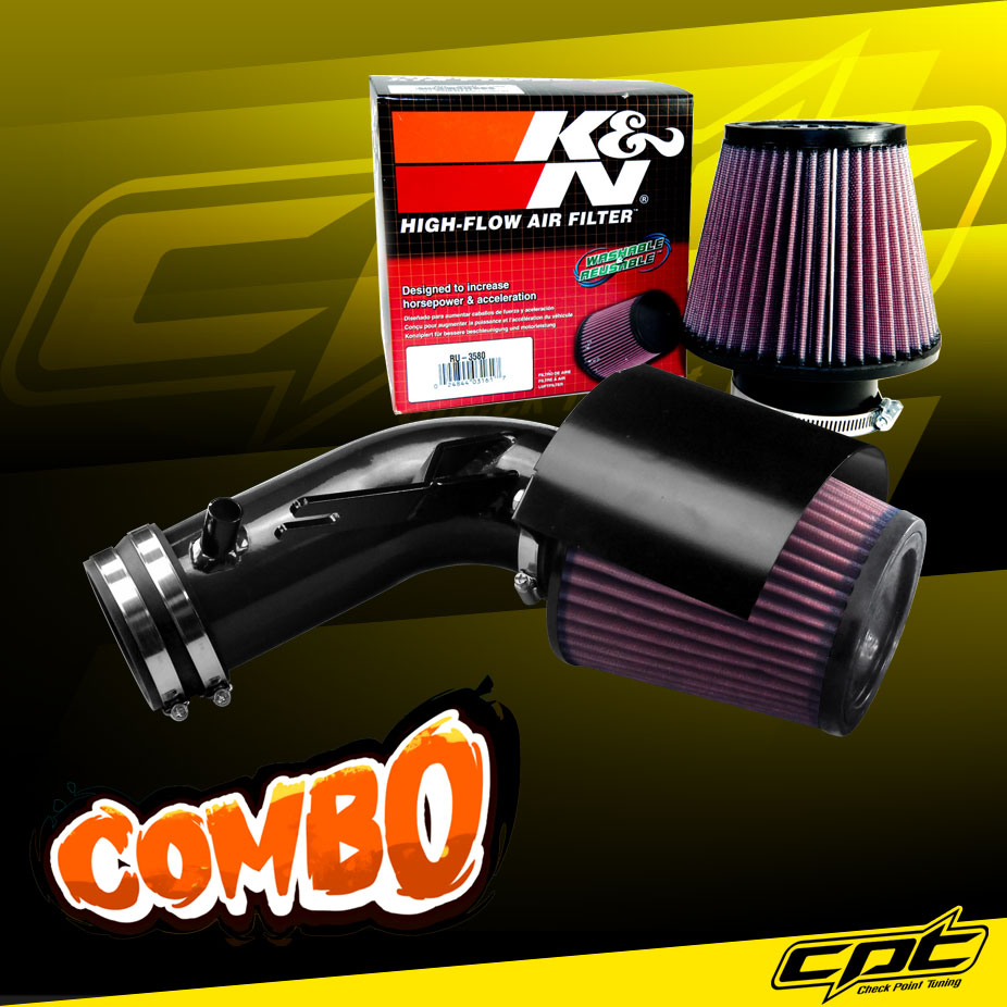 K&N® Air Filter + CPT® Cold Air Intake System (Black) - 09-18 Nissan Maxima 3.5L V6