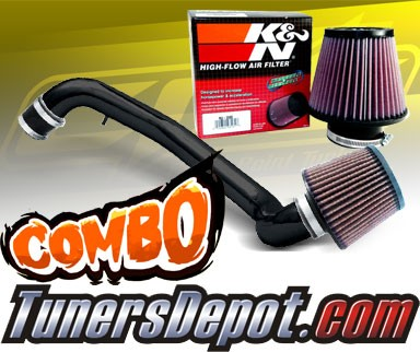 K&N® Air Filter + CPT® Cold Air Intake System (Black) - 94-00 Acura Integra GSR Vtec 1.8L 4cyl