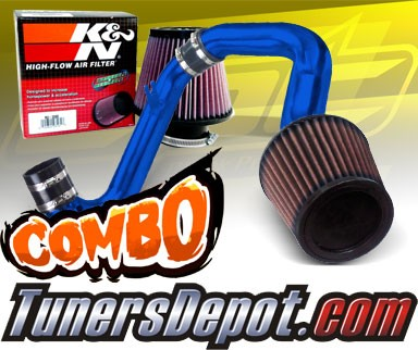 Stainless Steel Filter 01-05 Honda Civic Automatic 1.7L Polish Cold Air Intake