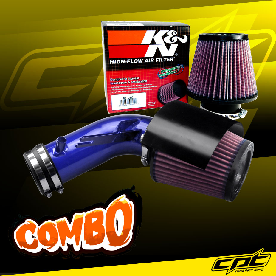 K&N® Air Filter + CPT® Cold Air Intake System (Blue) - 09-18 Nissan Maxima 3.5L V6
