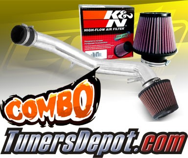 Stainless Steel Filter 01-05 VW Jetta 1.8T 1.8L 4cyl Polish Cold Air Intake