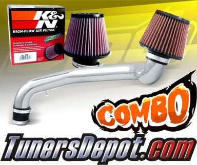 K&N® Air Filter + CPT® Cold Air Intake System (Polish) - 94-00 Acura Integra GSR Vtec 1.8L 4cyl