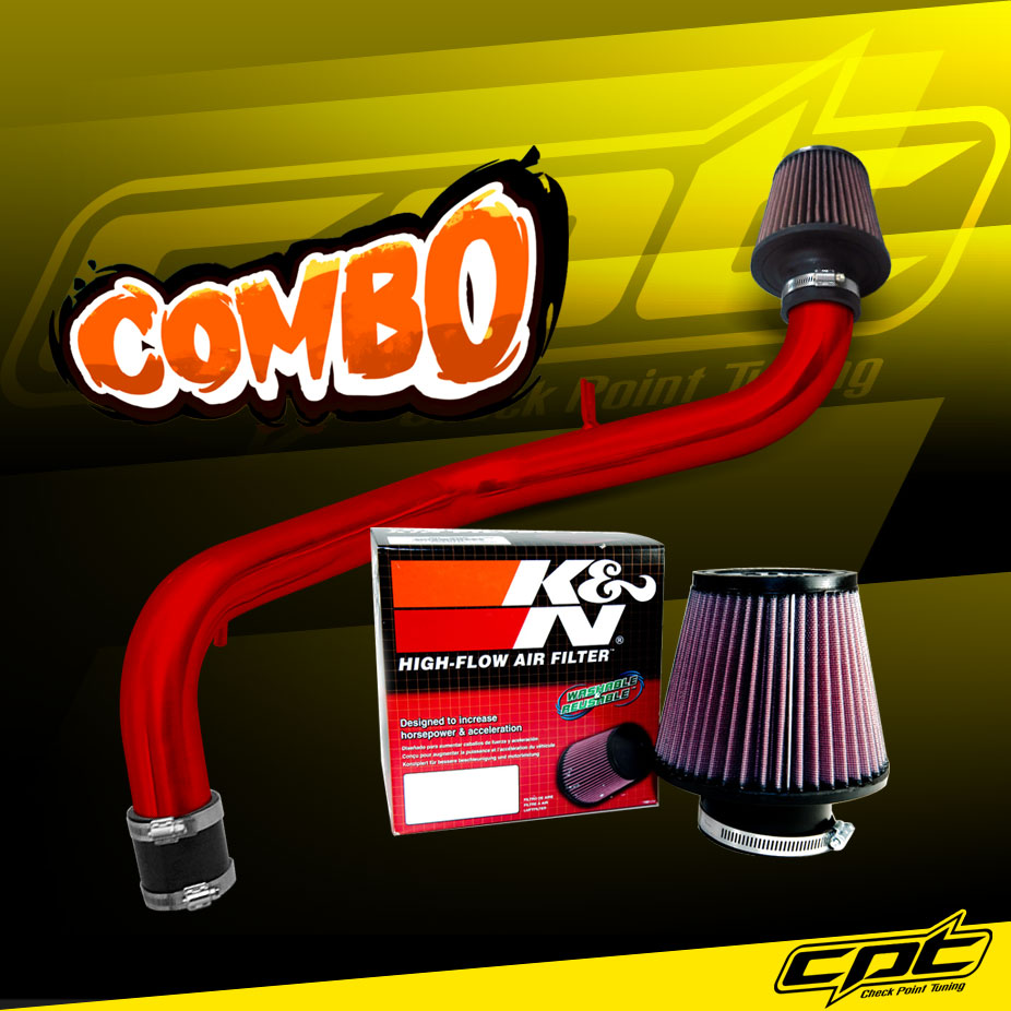 K&N® Air Filter + CPT® Cold Air Intake System (Red) - 94-01 Acura Integra Non-Vtec 1.8L 4cyl