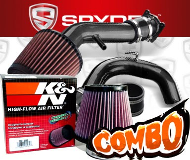 K&N® Air Filter + Spyder® Cold Air Intake System (Black) - 00-01 Nissan Sentra 2.0L 4cyl