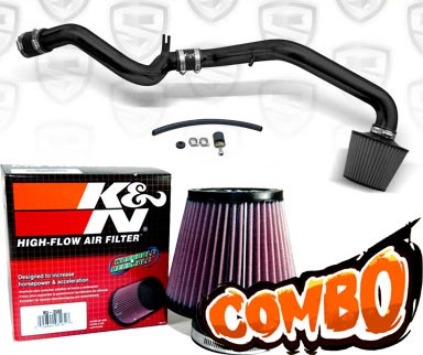 K&N® Air Filter + Spyder® Cold Air Intake System (Black) - 00-03 Saturn S-Series DOHC 1.9L 4cyl