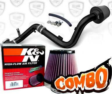 K&N® Air Filter + Spyder® Cold Air Intake System (Black) - 00-04 Ford Focus 2.0L 4cyl DOHC