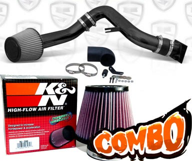 K&N® Air Filter + Spyder® Cold Air Intake System (Black) - 00-05 Mitsubishi Eclipse GT 3.0L V6