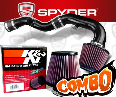 K&N® Air Filter + Spyder® Cold Air Intake System (Black) - 02-03 Subaru Impreza WRX 2.0L 4cyl