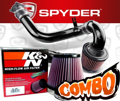 K&N® Air Filter + Spyder® Cold Air Intake System (Black) - 02-06 Nissan Altima 2.5L 4cyl