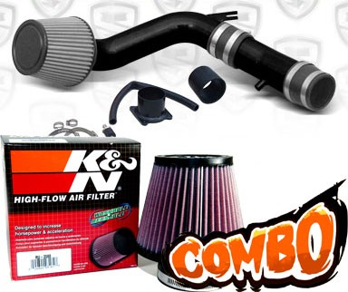 K&N® Air Filter + Spyder® Cold Air Intake System (Black) - 02-06 Nissan Sentra Spec-V SE-R 2.5L 4cyl
