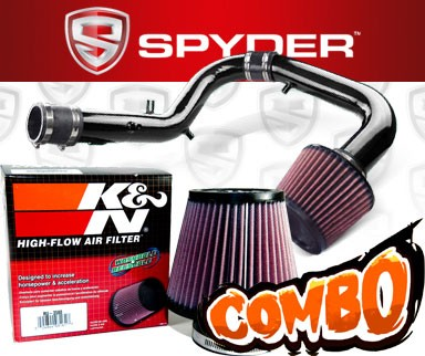 K&N® Air Filter + Spyder® Cold Air Intake System (Black) - 05-06 Scion tC 2.4L 4cyl