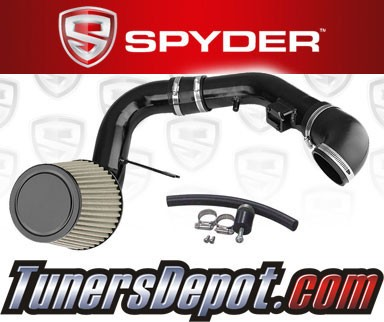 K&N® Air Filter + Spyder® Cold Air Intake System (Black) - 05-08 Chevy Cobalt SS 2.4L 4cyl