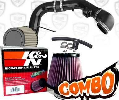 K&N® Air Filter + Spyder® Cold Air Intake System (Black) - 05-10 Chevy Cobalt 2.2L 4cyl