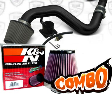 K&N® Air Filter + Spyder® Cold Air Intake System (Black) - 06-09 VW Volkswagen Golf GTI 2.0T MKV 2.0L 4cyl