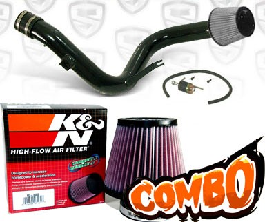 K&N® Air Filter + Spyder® Cold Air Intake System (Black) - 06-10 Mitsubishi Eclipse V6 3.8L (MT)