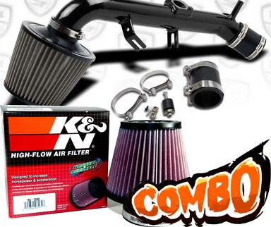 K&N® Air Filter + Spyder® Cold Air Intake System (Black) - 06-12 Toyota Yaris 1.5L 4cyl
