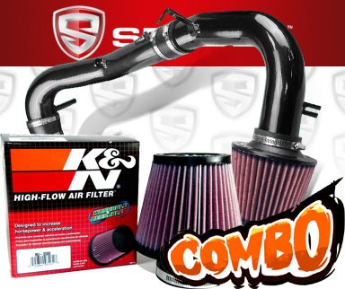 K&N® Air Filter + Spyder® Cold Air Intake System (Black) - 07-10 Scion tC 2.4L 4cyl