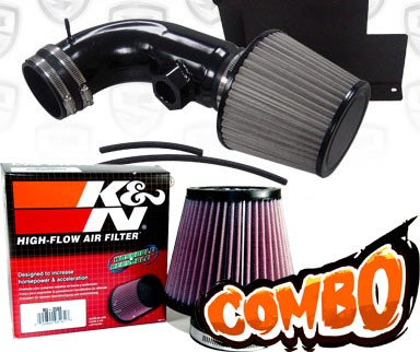 K&N® Air Filter + Spyder® Cold Air Intake System (Black) - 07-12 BMW 328i E90/E92/E93 3.0L 6cyl